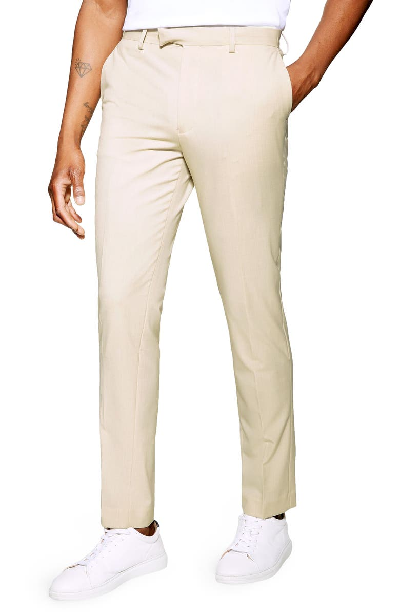 TOPMAN Slim Fit Dress Pants, Main, color, 250