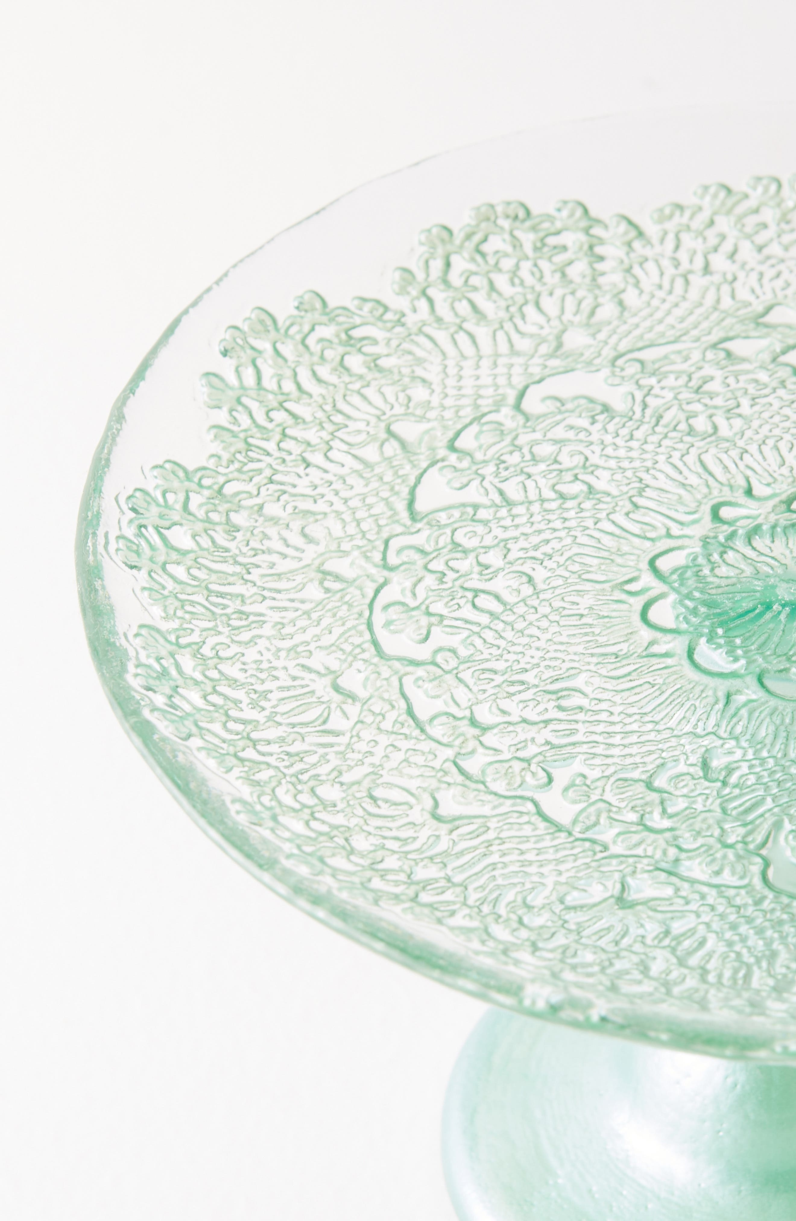 ,                             Metallic Lace Cake Stand,                             Alternate thumbnail 2, color,                             MINT