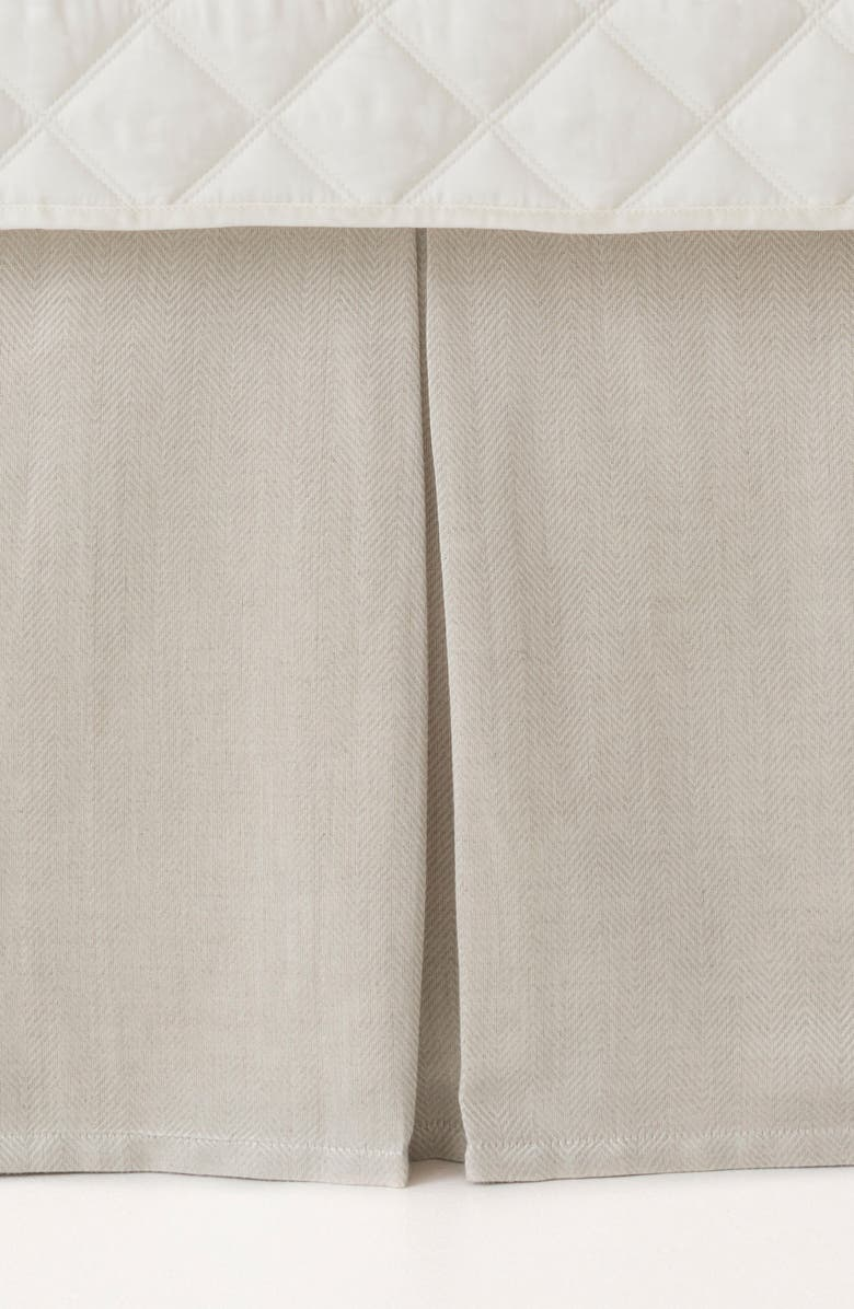 PINE CONE HILL Brussels Bed Skirt, Main, color, NEUTRAL