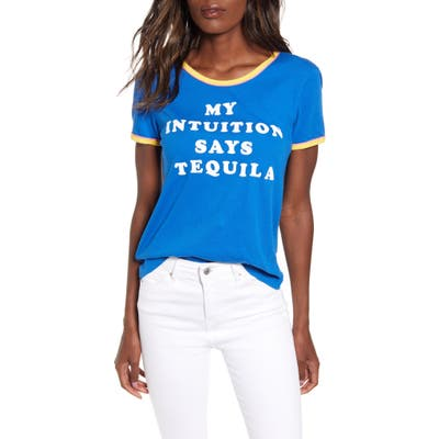 Wildfox Tequila Intuition Tee, Blue