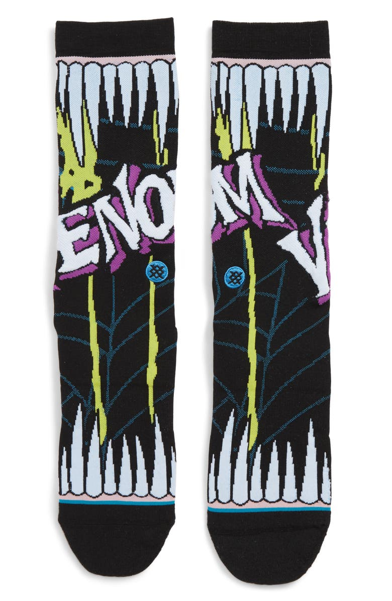 STANCE Venom Graphic Socks, Main, color, BLACK
