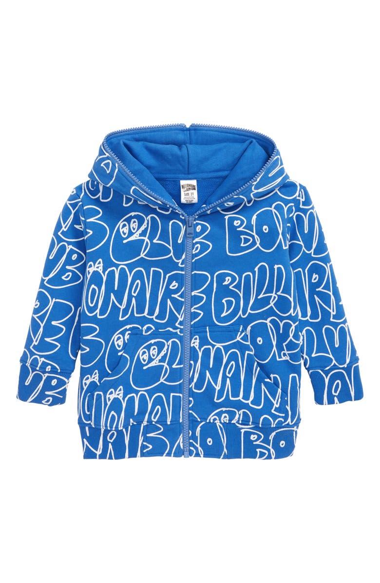 BILLIONAIRE BOYS CLUB Doodles Full Zip Hoodie, Main, color, PALACE BLUE