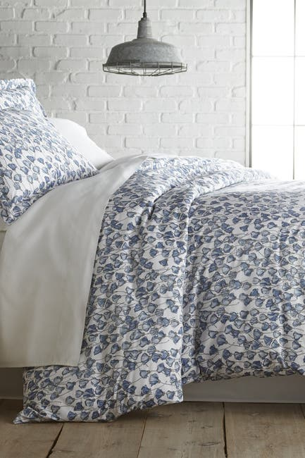 Image of SOUTHSHORE FINE LINENS Full/Queen Premium Collection Ultra-Soft 300 Thread-Count Cotton Duvet Cover Sets - Forevermore Blue