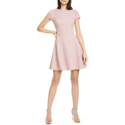 Ted Baker London Cherisa Fit & Flare Dress, (fits like 0-2 US) - Pink