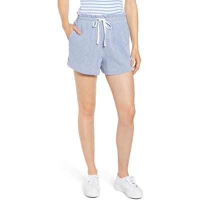 Petite Gibson X Hi Sugarplum! Cabo Drawstring Shorts, Blue (Regular & Petite) (Nordstrom Exclusive)