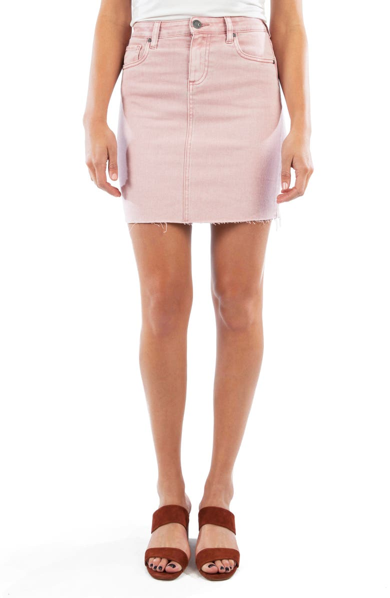 KUT From The Kloth Margaret Raw Hem Miniskirt