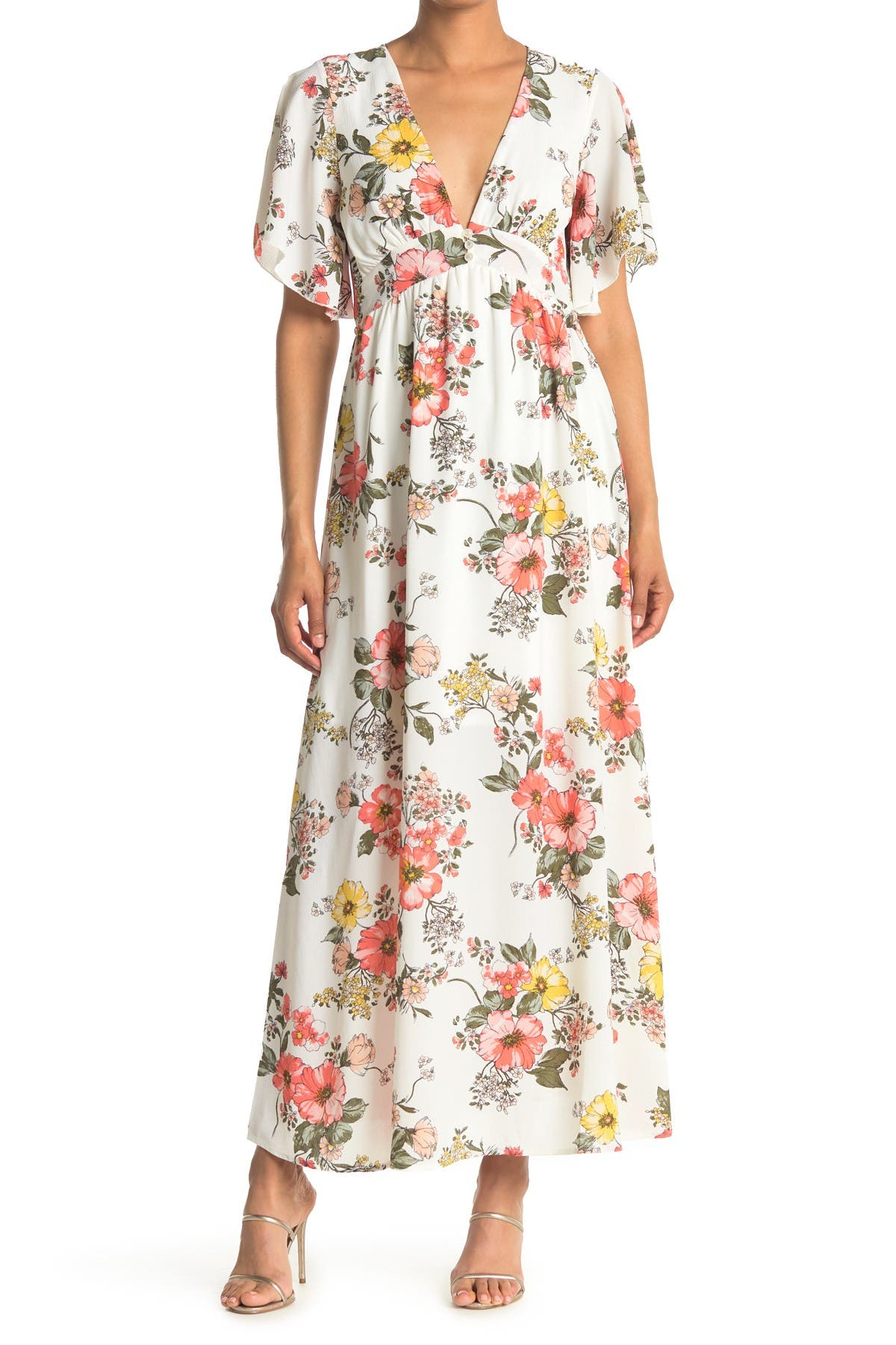 Image of BAILEY BLUE Floral Maxi Dress