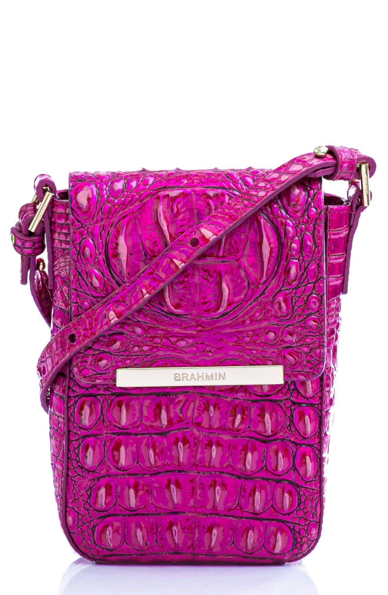 Sasha Croc Embossed Leather Crossbody Bag