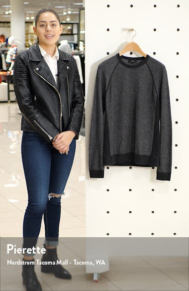 Birdseye Crewneck Wool & Cashmere Sweater, sales video thumbnail