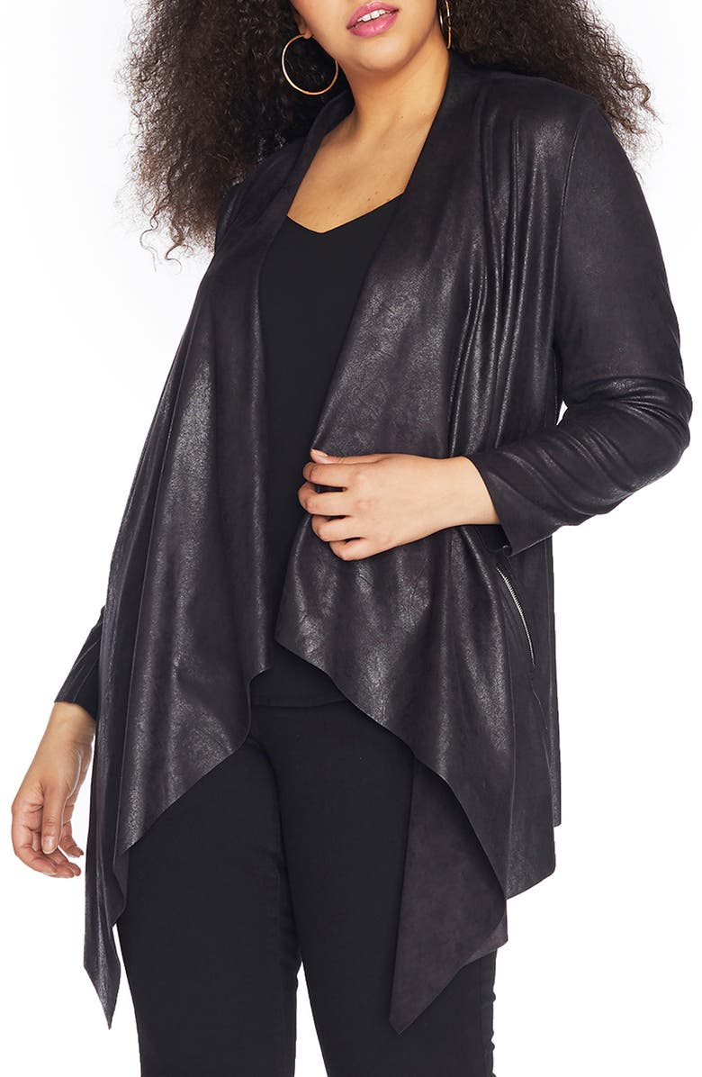 REBEL WILSON X ANGELS Stretch Faux Suede Jacket, Main, color, 002