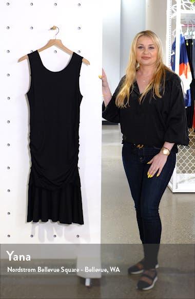 Jace Ruched Drop Waist Sheath Dress, sales video thumbnail