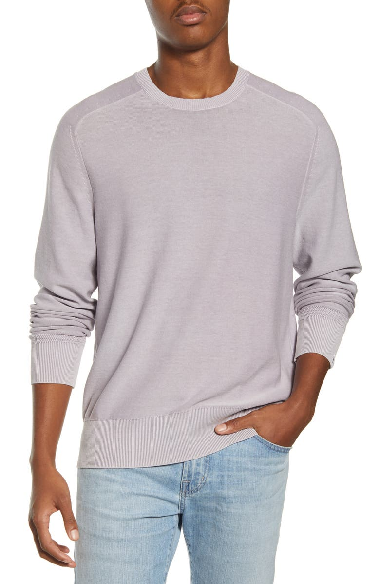 RAG & BONE Lance Slim Fit Crewneck Sweater, Main, color, LAVENDER