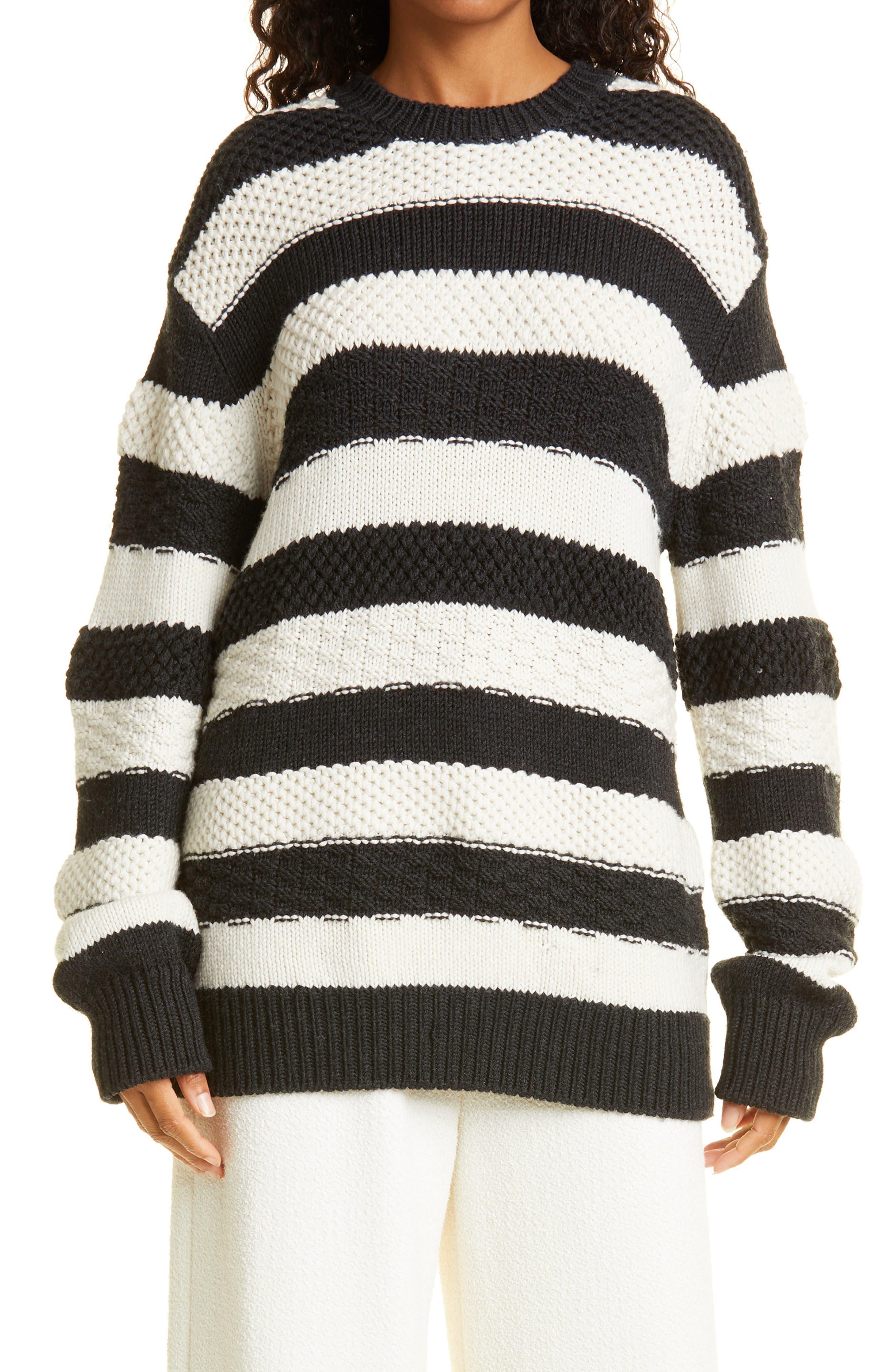 Women's Jason Wu Stripe Oversize Merino Wool Sweater