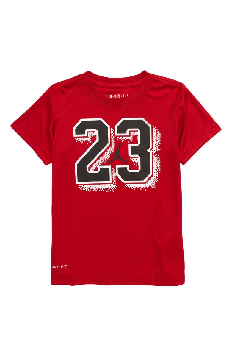 JORDAN 23 Pixel Graphic Dri-FIT T-Shirt, Main, color, GYM RED