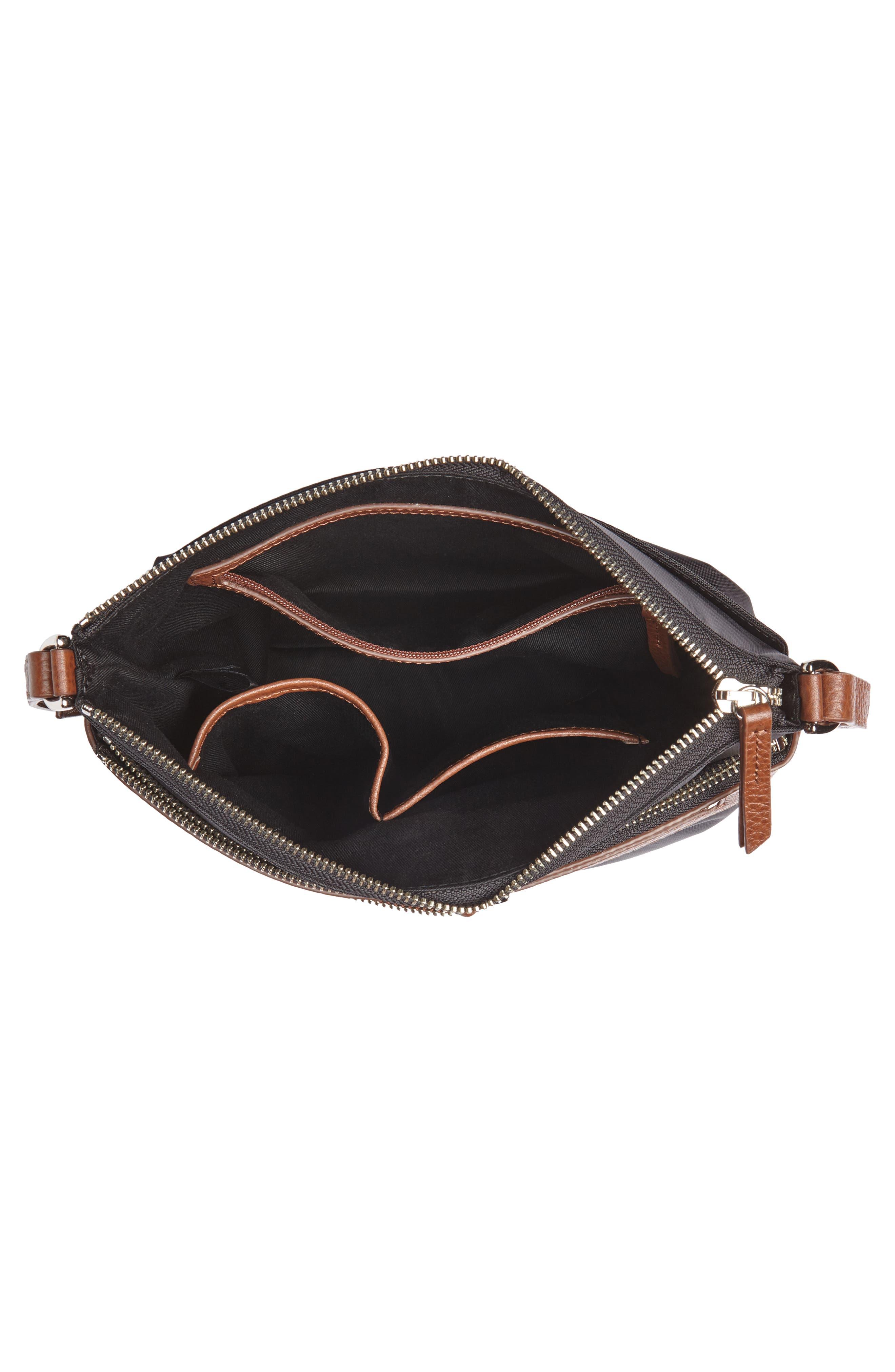 ,                             Kaison Nylon Crossbody Bag,                             Alternate thumbnail 5, color,                             BLACK/BROWN