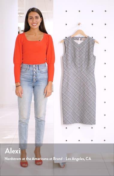 Plaid Sleeveless Sheath Dress, sales video thumbnail