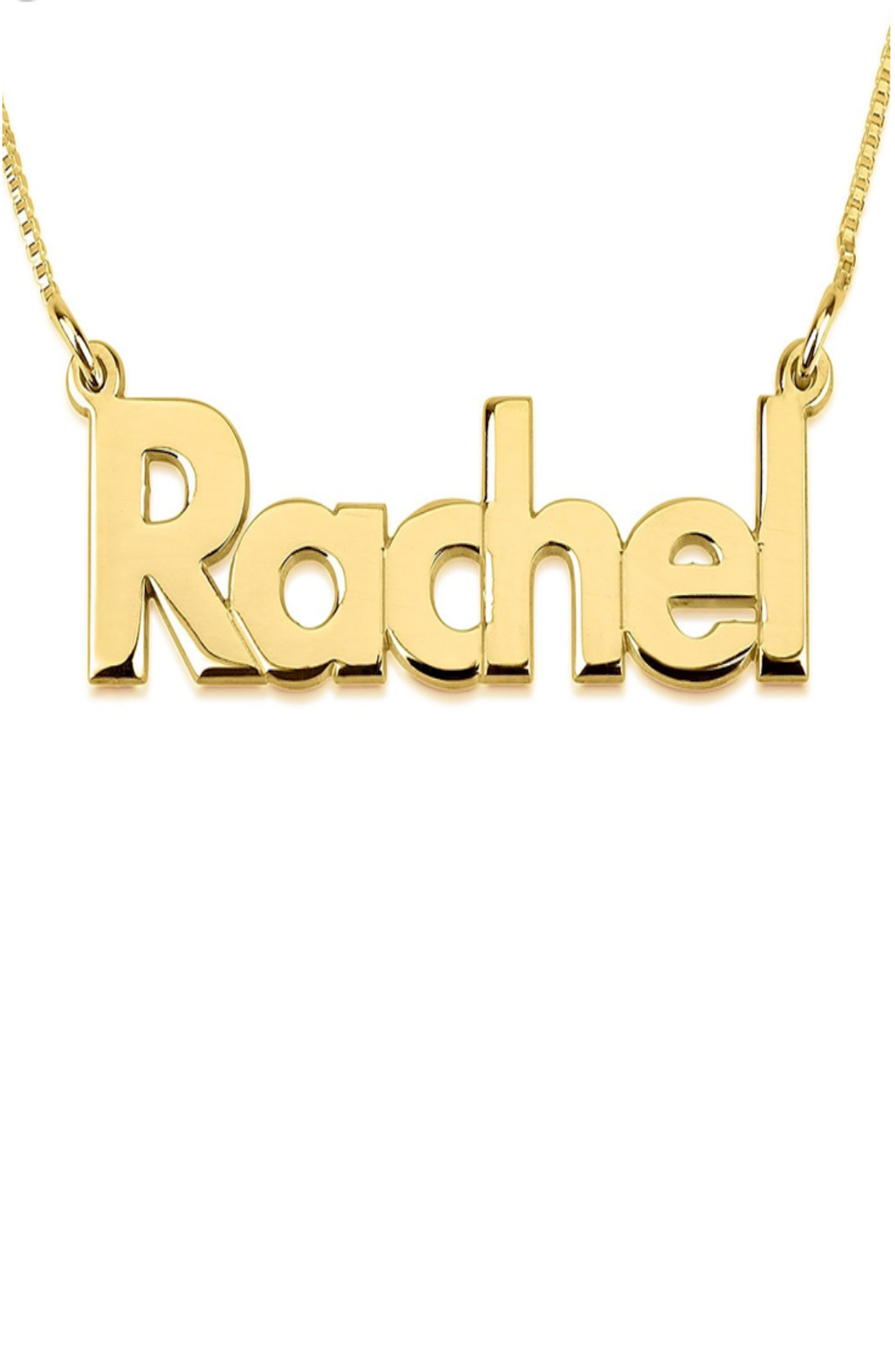 Bold Nameplate Pendant Necklace