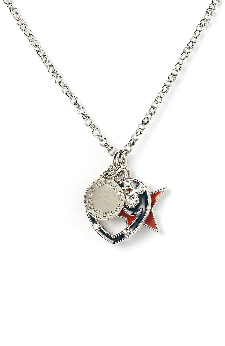MARC BY MARC JACOBS 'Miss Nautical' Icon Pendant Necklace, Main, color, 041