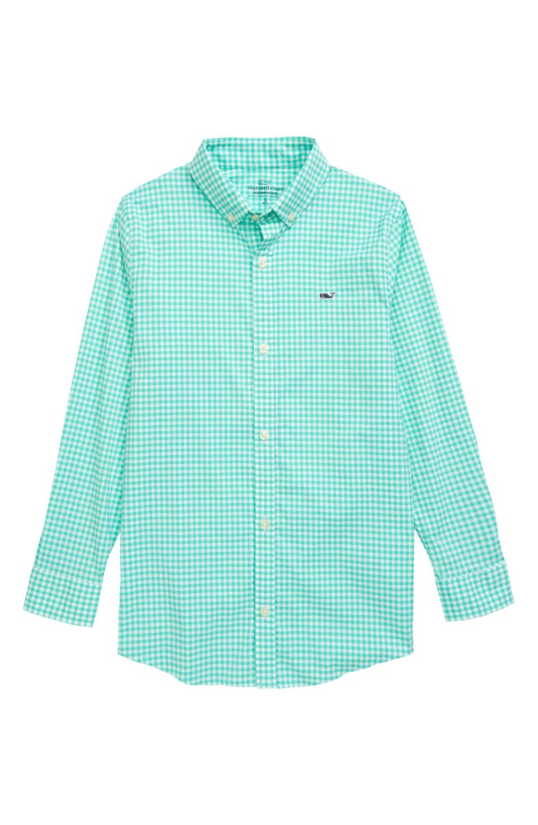 VINEYARD VINES Arawak Gingham Whale Performance Button-Down Shirt, Main, color, 300