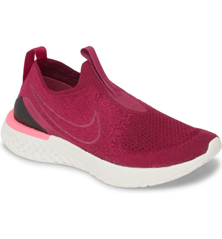NIKE Epic Phantom React Flyknit Running Shoe, Main, color, RASPBERRY RED/ BLACK