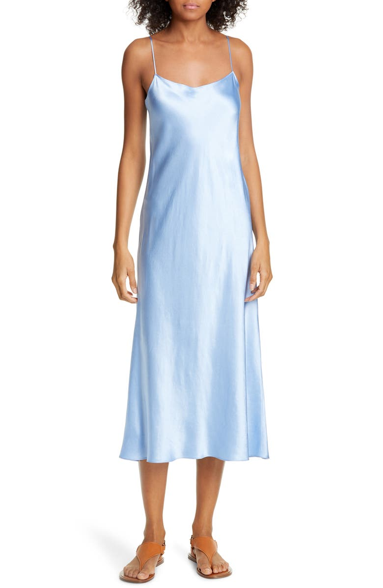 VINCE Satin Slipdress, Main, color, PALISADES