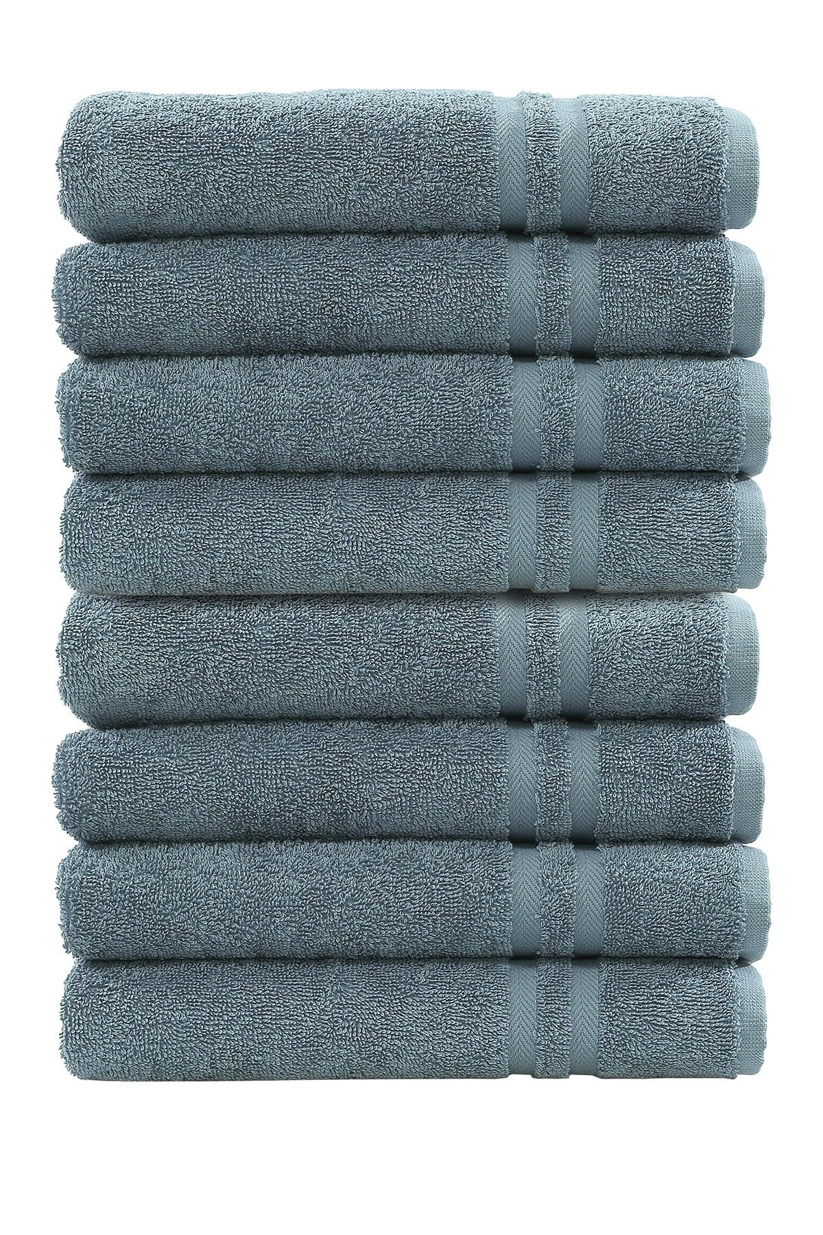 Image of LINUM HOME Denzi Hand Towels - Set of 8 - Denzi Blue