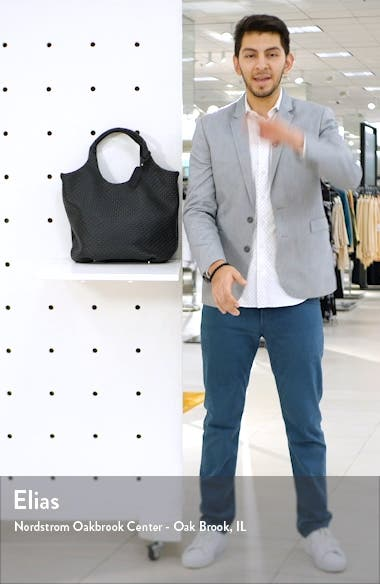 Ady Woven Faux Leather Tote, sales video thumbnail