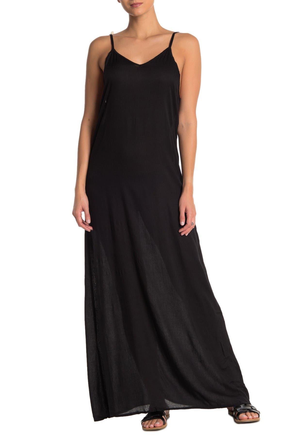 Image of BOHO ME Pompom Back Cover-Up Maxi Dress