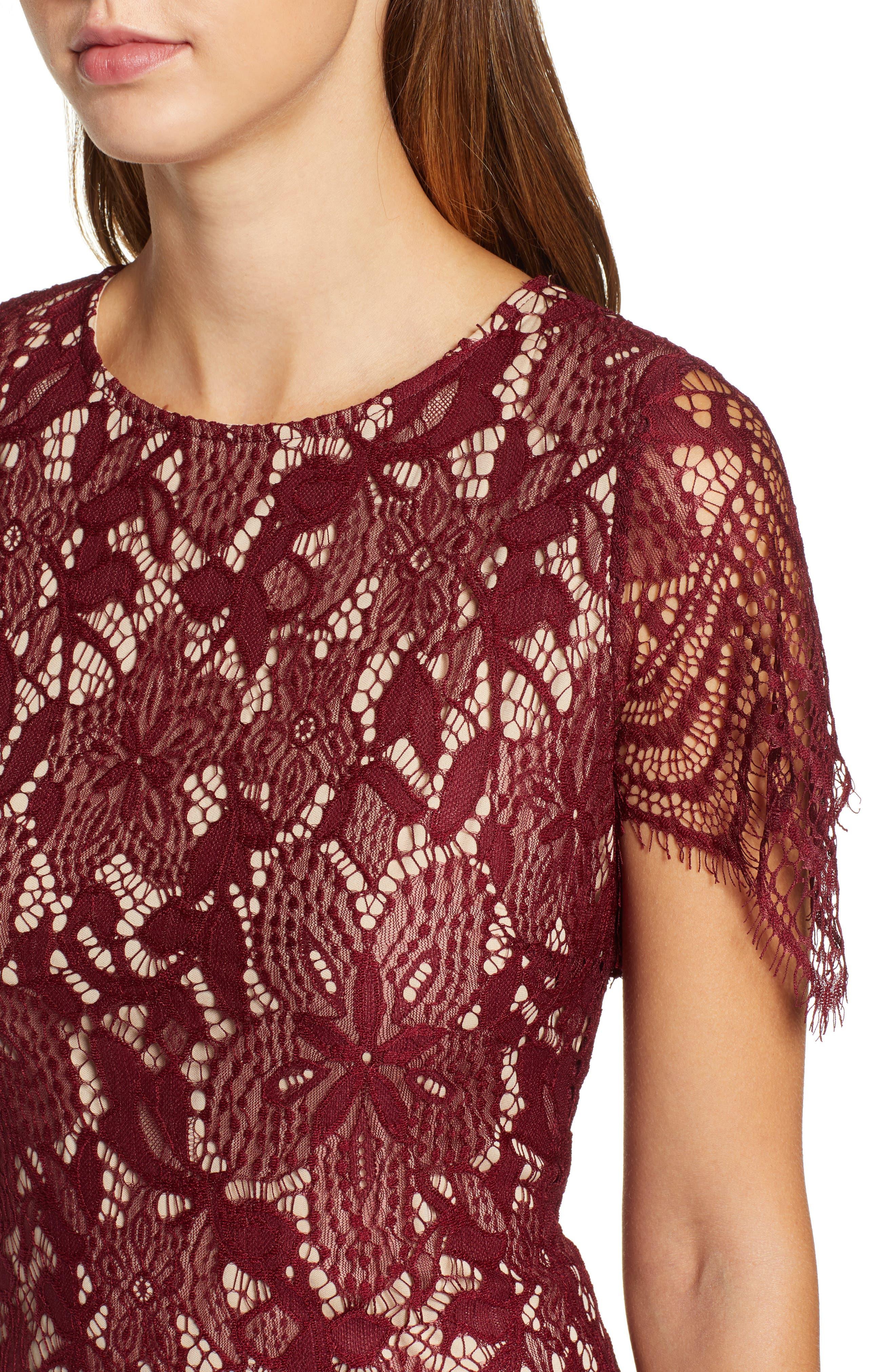 ,                             Scallop Lace Dress,                             Alternate thumbnail 12, color,                             930