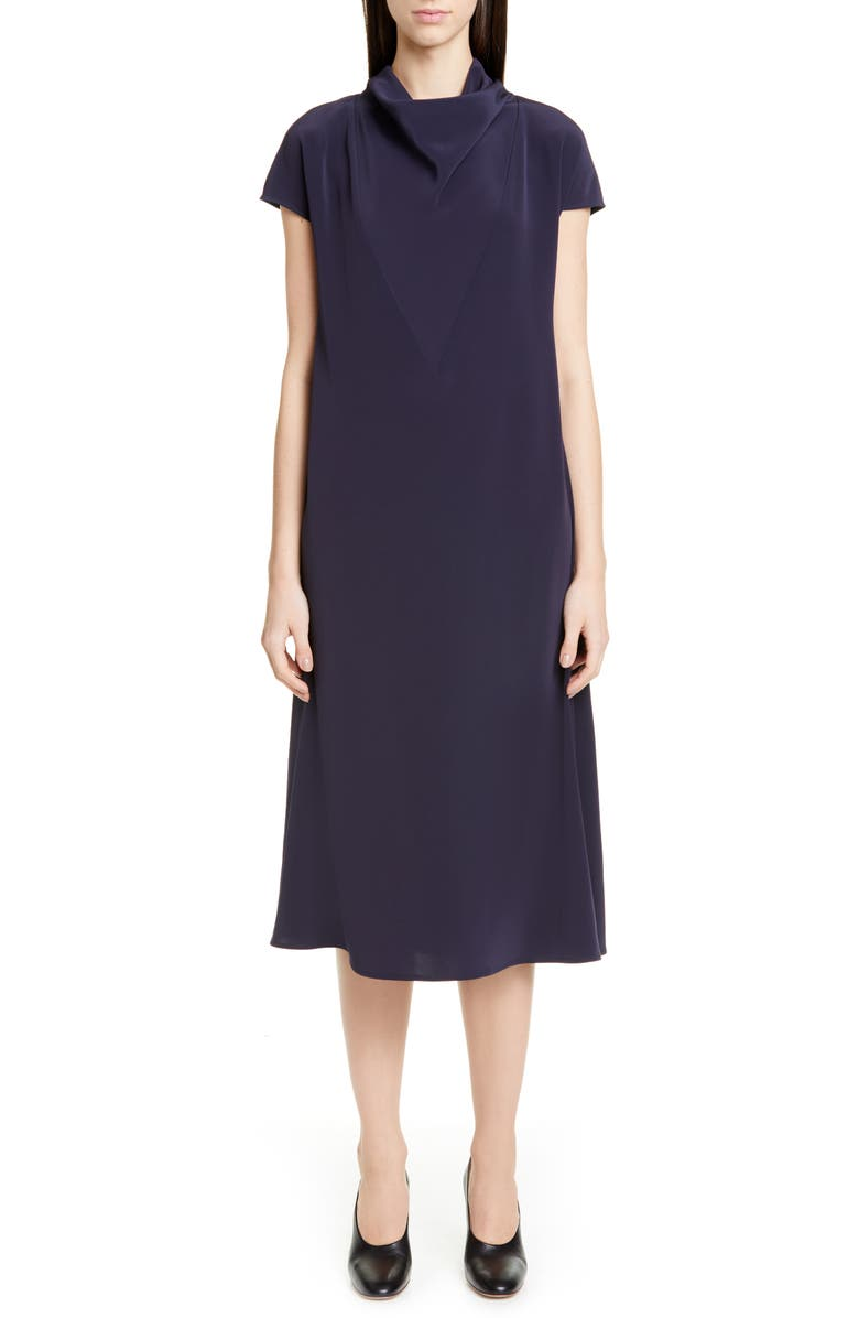 CO Mock Neck Midi Dress, Main, color, NAVY