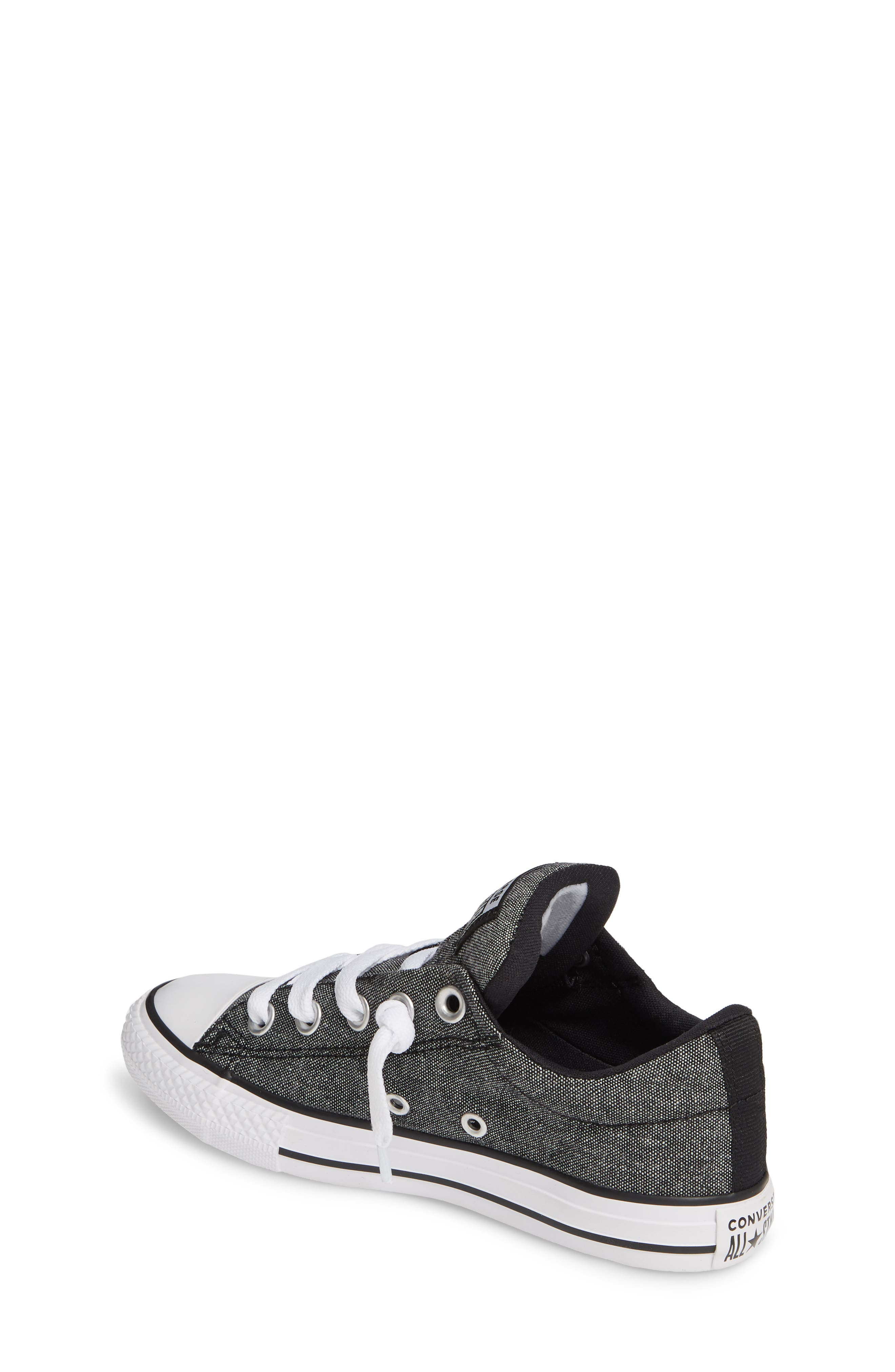 ,                             Chuck Taylor<sup>®</sup> All Star<sup>®</sup> Street Sneaker,                             Alternate thumbnail 2, color,                             BLACK/ BLACK/ WHITE