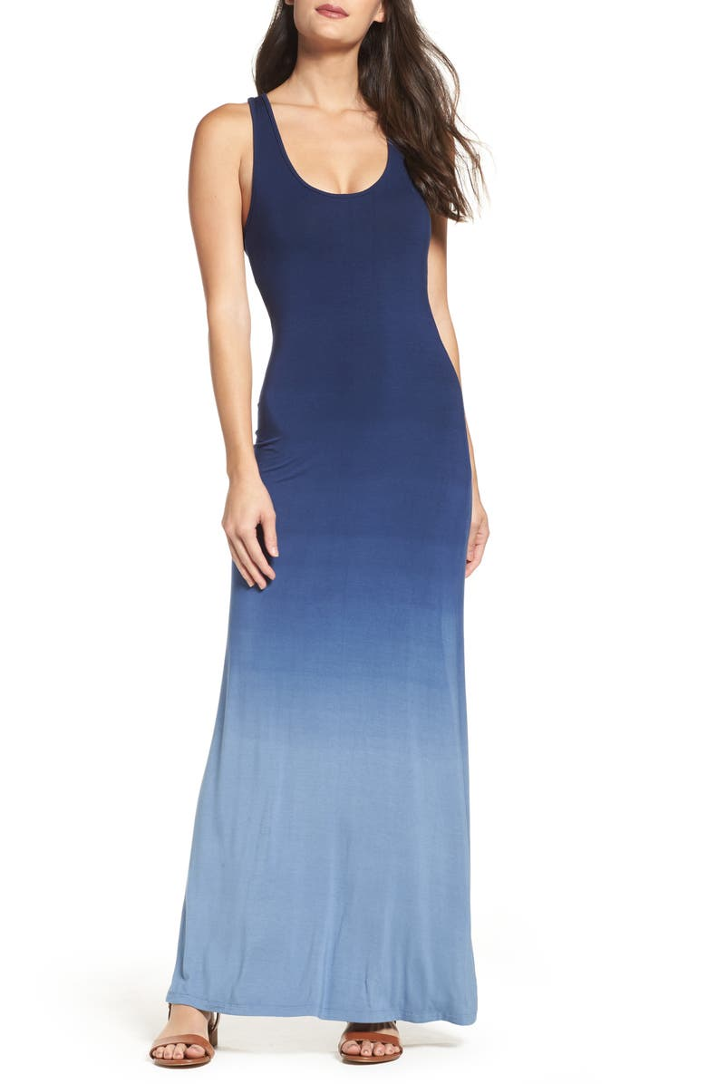 FRAICHE BY J Racerback Maxi Dress, Main, color, 400