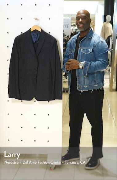Slim Fit Windowpane Stretch Cotton Sport Coat, sales video thumbnail