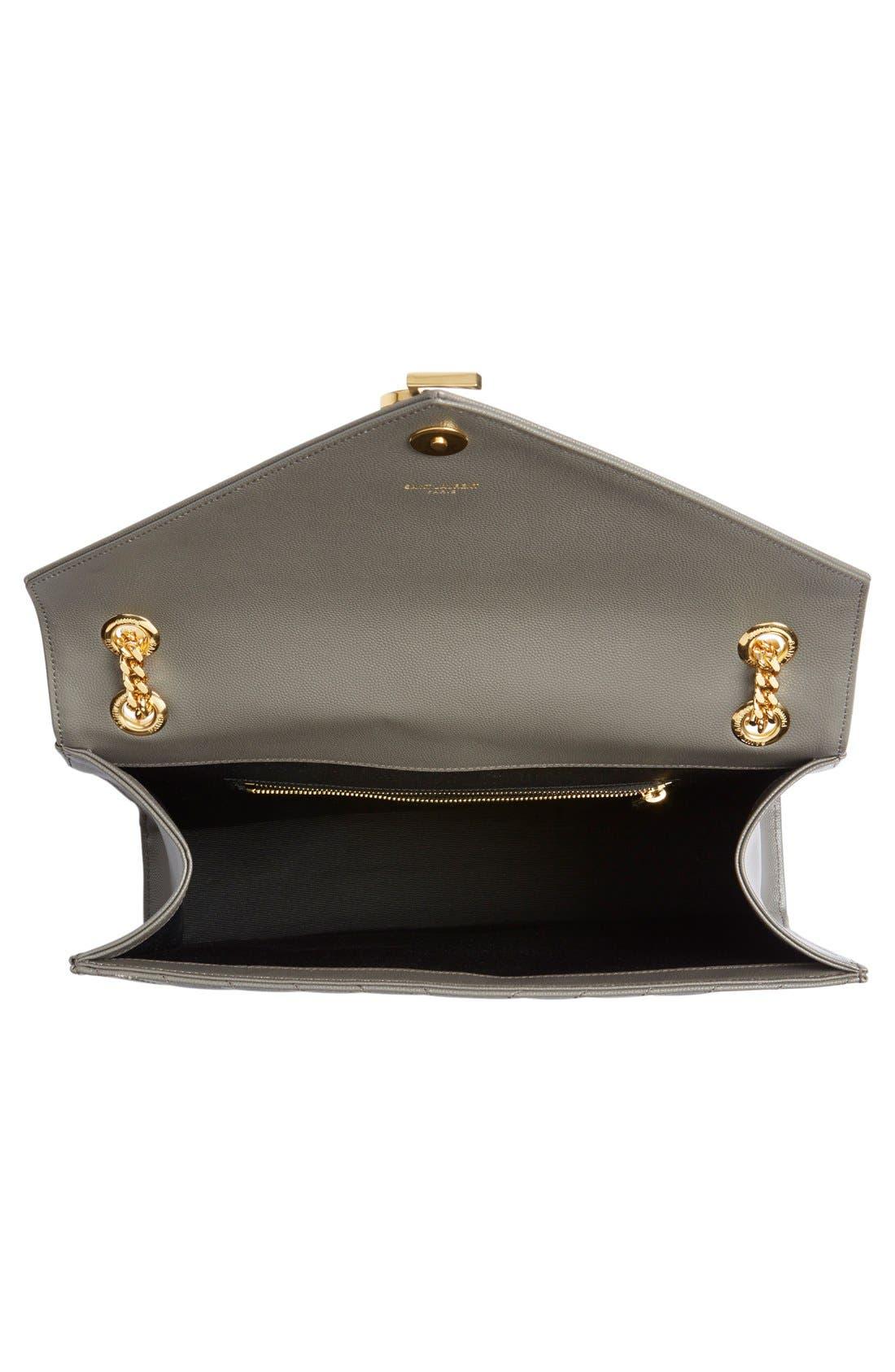 ,                             'Large Monogram' Grained Leather Shoulder Bag,                             Alternate thumbnail 16, color,                             020