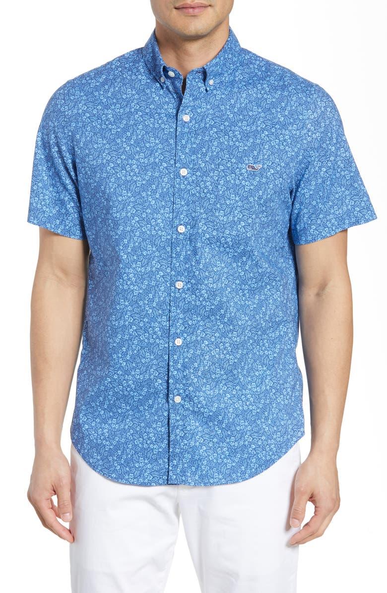 VINEYARD VINES Tucker Slim Fit Katma Shirt, Main, color, MOONSHINE