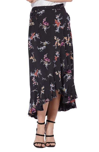 Image of PAIGE Alamar Floral Wrap Skirt