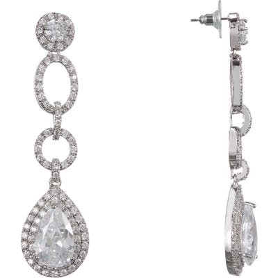 Nina Pave Pear Drop Earrings