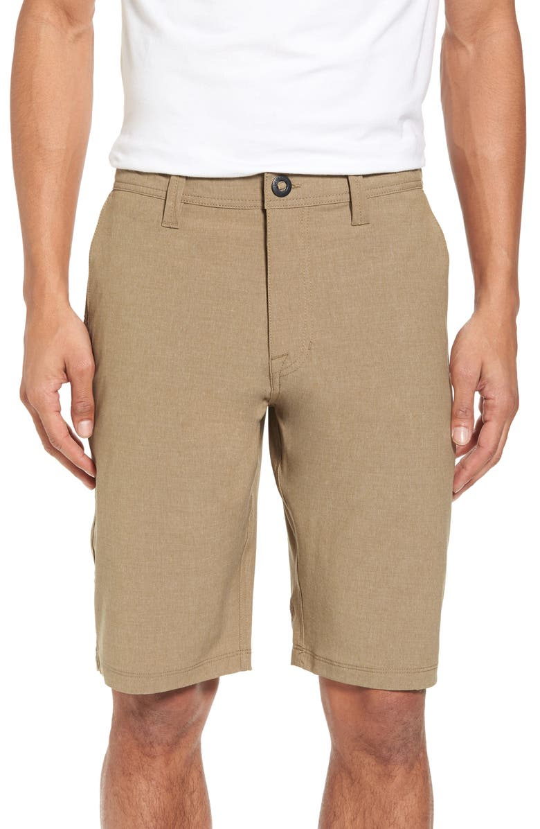 VOLCOM Hybrid Shorts, Main, color, BEIGE