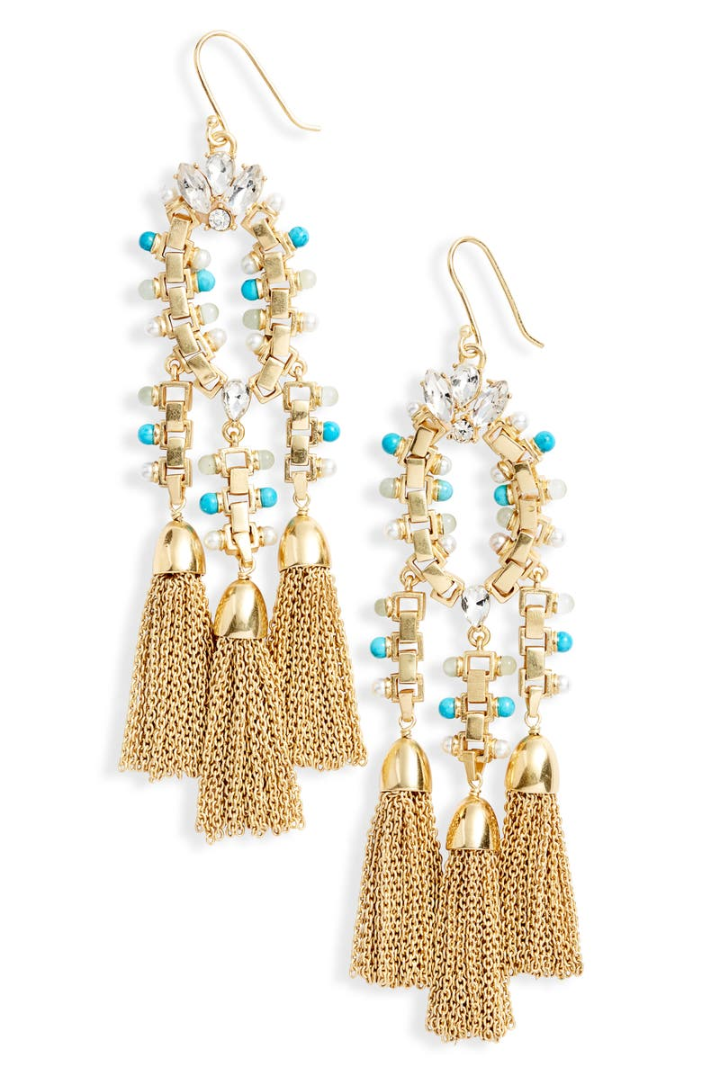 SOLE SOCIETY Drama Chandelier Earrings, Main, color, 710