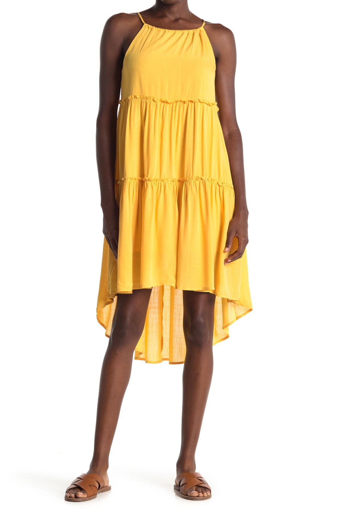 Image of Abound High Low Tiered Sleeveless Dress