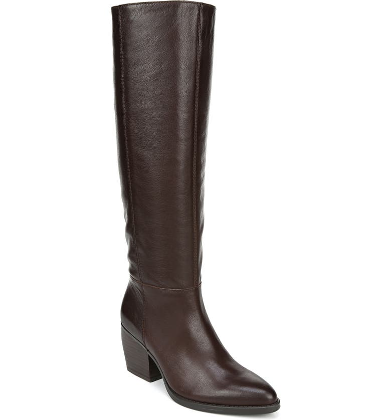NATURALIZER Fae Tall Boot, Main, color, CHOCOLATE LEATHER