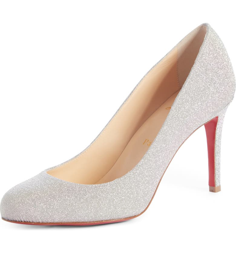 CHRISTIAN LOUBOUTIN Fifille Glitter Pump, Main, color, 040
