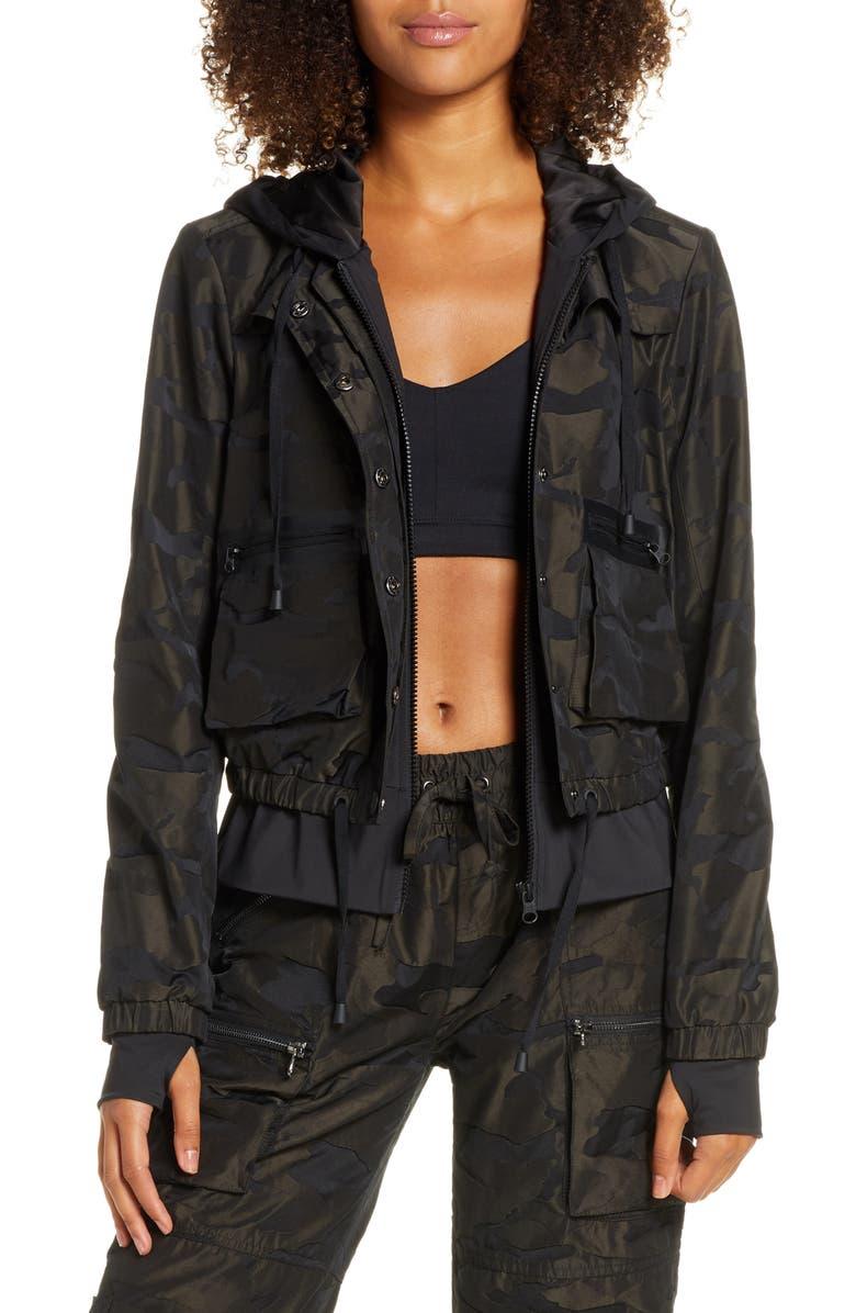 BLANC NOIR Skyfall Hooded Aviator Jacket, Main, color, CAMO