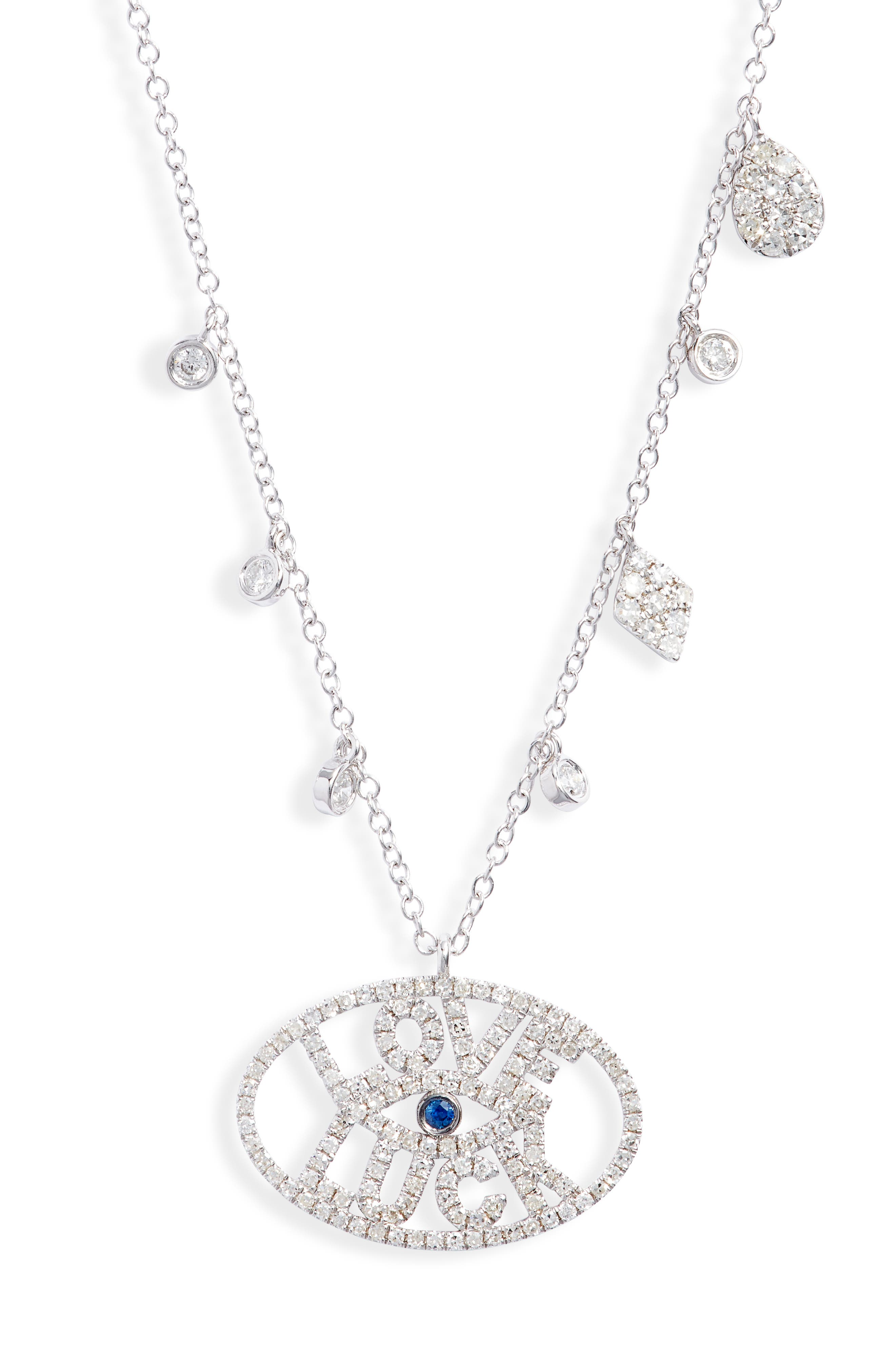 Good Luck Charm Evil Eye Pendant Necklace