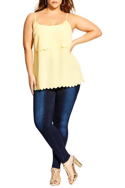 Image of City Chic Scalloped Cami
