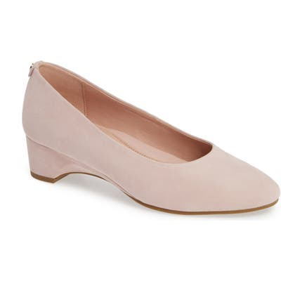 Taryn Rose Babs Demi-Wedge Pump, Pink