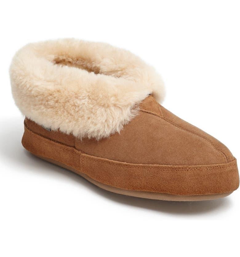ACORN Genuine Sheepskin Slipper, Main, color, WALNUT