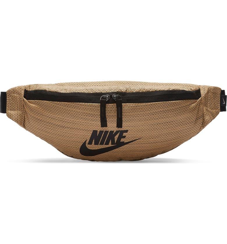 NIKE Sportswear Heritage Belt Bag, Main, color, GOLD/ BLACK/ BLACK
