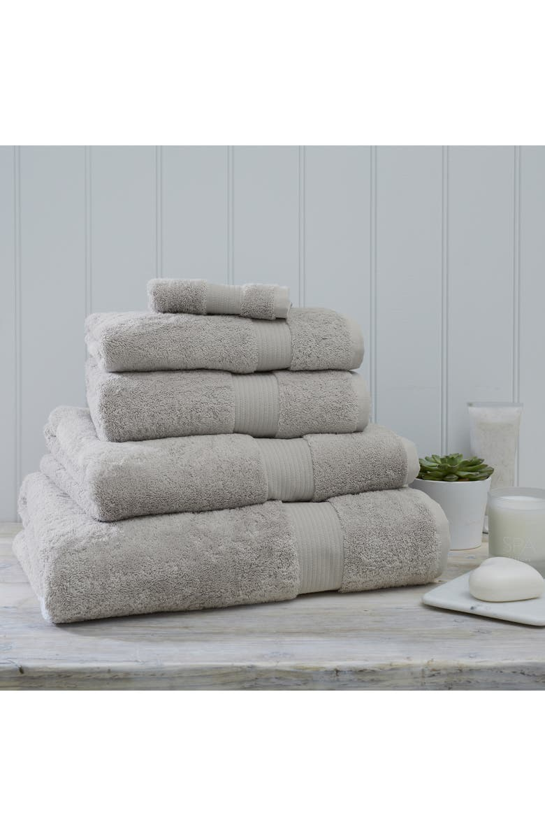 THE WHITE COMPANY Luxury Egyptian Cotton Bath Towel, Main, color, PEARL GREY