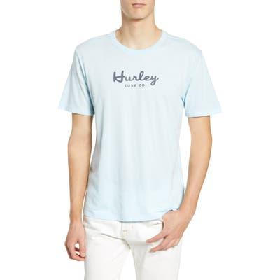 Hurley Dri-Fit Script T-Shirt, Blue